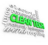 Clean Tech 3D Words Technology — Stock Photo