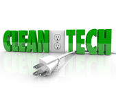 Clean Tech Power Plug — Stock Photo