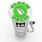 Clean Tech EV Electric Car Charging Station — Stock Photo