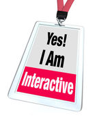 Yes I Am Interactive Badge — Stock Photo