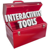 Interactive Tools Words — Stock Photo