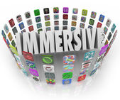 Immersive Word App Icons — Stock Photo