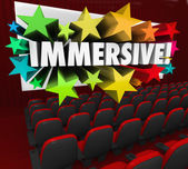 Immersive Movie Entertainment Experience — Stock Photo
