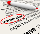 Immersion Word Dictionary Definition — Stock Photo