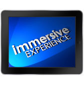 Immersive Experience Computer Tablet Screen — Stock Photo