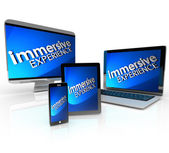 Immersive Experience Computer Devices — Stock Photo