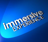 Immersive Experience 3d Blue Words — Stock Photo
