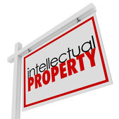 Intellectual Property For Sale Sign — Stock Photo