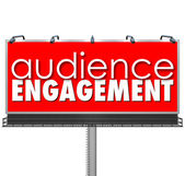 Audience Engagement Billboard — Stock Photo