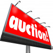 Auction word on a billboard or sign — Stock Photo