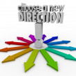 Choose a New Direction 3d words — Stock Photo #48126087