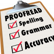 Proofread checklist and checked boxes — Stock Photo #48128661