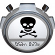 Skull Crossbones on Stopwatch Timer — Stock Photo #48129161