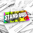 Stand Out Business Card — Stock Photo #48129207