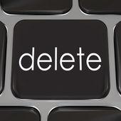 удалить ключ на клавиши клавиатуры компьютера черный — Стоковое фото