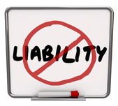 Liability word and no symbol in red marker drawn over it — Stock Photo