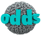 Odds word on a ball of percentage signs — Stock Photo