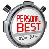 Personal Best words on a stopwatch or timer — Stock Photo