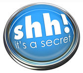 Shh It's a Secret words on a round blue button — Stock Photo