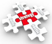 Strategy Tactics Plan on Puzzle Pieces — Stock Photo