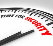 Time for Security words on a white clock face — Stock Photo