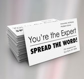 """You're the Expert Spread Word"" Business Cards — Stock Photo"
