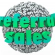 Referral Sales Words Money Dollar Sign Sphere Ball — Stock Photo #50104923