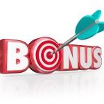 Bonus Word 3d Red Letters Premium Gift Plus Added Benefit — Stock Photo #50104961