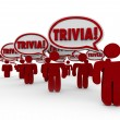 Trivia Word People Talking Speech Bubbles Quiz Knowledge — Stock Photo #50105057