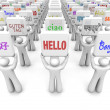 Hello word in different languages — Stock Photo