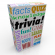 Trivia Game Box Package Fun Questions Answers Knowledge Quiz — Stock Photo #50105171