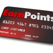 Earn Points words on a plastic credit card — Stock Photo #50105191