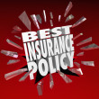 Best Insurance Policy Words Coverage Health Care Protection — Stock Photo #50105505