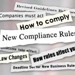 Compliance Headlines Newspaper Torn New Business Regulations Com — Stock Photo #50105513