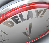 Delay Clock Word Time Deadline — Stock Photo