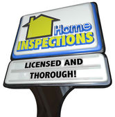 Home Inspection words on a business sign advertising — Stock Photo