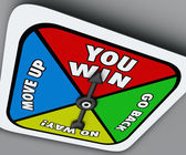 You Win Board Game Spinner — Stock Photo