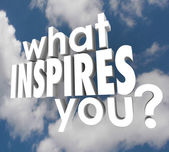 What Inspires You words — 图库照片