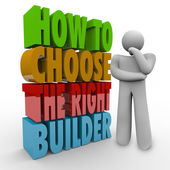 How to Choose the Right Builder Thinker Question Advice Contract — Stock Photo
