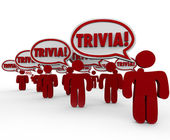 Trivia Word People Talking Speech Bubbles Quiz Knowledge — Foto de Stock