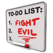 Luchar contra las malas palabras para hacer la lista proteger secure mejorar la seguridad — Foto de Stock