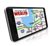 Mapa de navegación riqueza en gps sistema de posicionamiento global — Foto de Stock