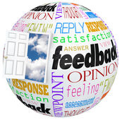 Feedback Globe Open Door Opinions Reviews Ratings Comments — Stock Photo