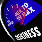 Parola geekiness misuratore misurazione del livello secchione — Foto Stock
