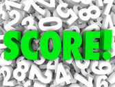Score word on a background of 3d numbers — Stock Photo
