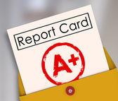 Boletim um plus top classificação de grau de pontuação de avaliação por — Foto Stock