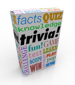 Trivia Game Box Package Fun Questions Answers Knowledge Quiz — Stock Photo