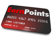 Earn Points words on a plastic credit card — Foto Stock
