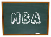 MBA Masters Business Administration College Degree Chalk Board — Zdjęcie stockowe