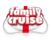Family Cruise words on a life preserver — Stock Photo